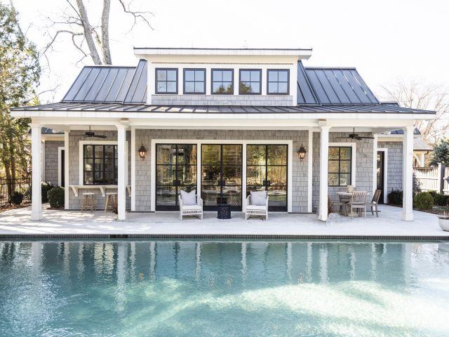 custom pool house addition by Womack Custom Homes